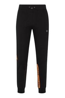 Черные брюки с контрастными полосками Philipp Plein