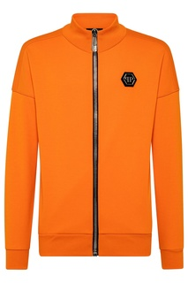 Оранжевая олимпийка с логотипом Philipp Plein