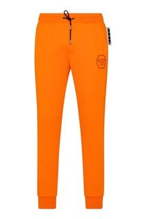 Оранжевые спортивные брюки Philipp Plein