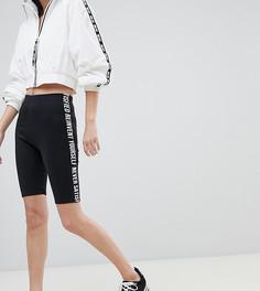 Леггинсы-шорты с надписью сбоку Bershka - Черный