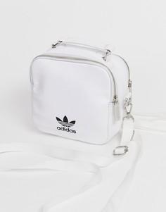 Белый кожаный рюкзак adidas Originals - Белый
