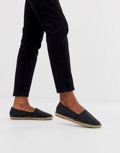 Эспадрильи с открытым носком Truffle Collection - Черный