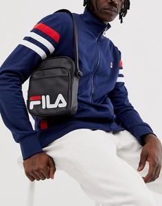 Черная сумка с логотипом для авиапутешествий Fila London - Черный