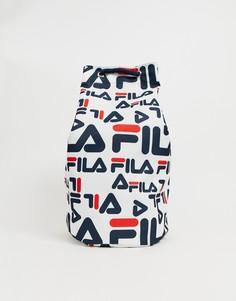 Белая сумка на плечо с принтом логотипа Fila Cassius - Белый