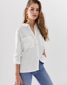 Белая рубашка с длинными рукавами Pimkie - Белый