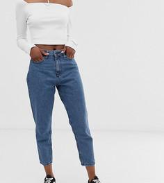 Синие укороченные джинсы в винтажном стиле Noisy May Petite - Синий