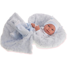 Кукла-младенец Munecas Antonio Juan Эдуардо в голубом, 42 см