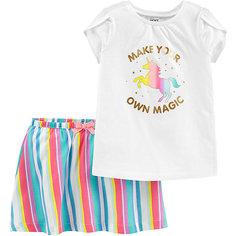 Комплект: футболка и юбка carters для девочки Carters