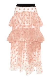Розовая юбка-макси в горошек Esve