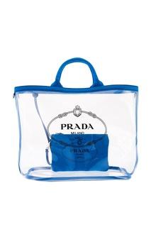 Прозрачная сумка с логотипом Prada