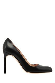 Черные кожаные туфли BBR Manolo Blahnik