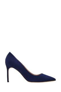 Синие замшевые туфли BB Manolo Blahnik