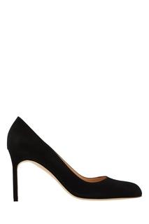 Черные замшевые туфли BBR Manolo Blahnik