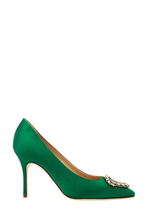 Зеленые туфли Okkava Manolo Blahnik