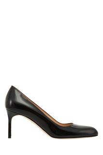 Черные туфли BBR из лакированной кожи Manolo Blahnik