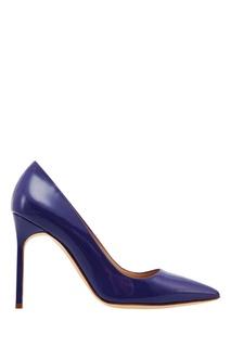 Лакированные туфли BB синего цвета Manolo Blahnik