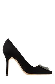 Черные туфли Hangisi с пряжкой Manolo Blahnik