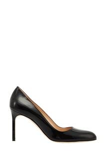 Черные лакированные туфли BBR Manolo Blahnik