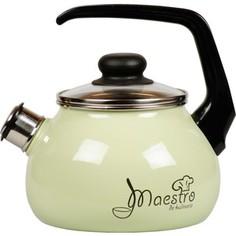 Чайник эмалированный со свистком 3.0 л Vitross Maestro (1RC12 салатовый)