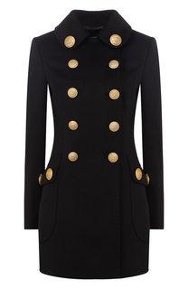 Двубортное шерстяное пальто с декоративными пуговицами Dolce & Gabbana