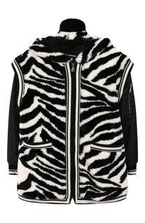 Куртка на молнии с отделкой и декоративным капюшоном Dolce & Gabbana