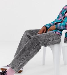 Черные выбеленные джинсы прямого кроя COLLUSION x005 - Черный