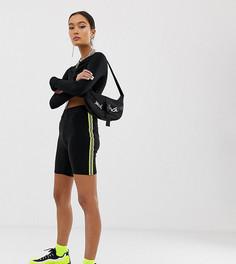 Леггинсы-шорты с полосками по бокам COLLUSION - Черный