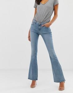 Выбеленные голубые расклешенные джинсы с классической талией ASOS DESIGN - Синий