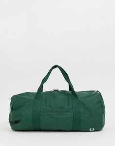Зеленая сумка дафл с логотипом в винтажном стиле Fred Perry vintage - Зеленый