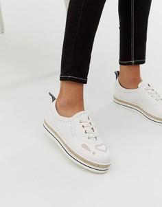Эспадрильи на шнуровке Love Moschino - Белый