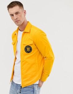 Спортивная куртка с принтом на спине Replay - Желтый