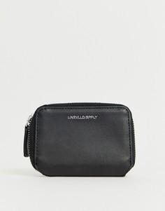 Черный кошелек из искусственной кожи на молнии с тиснением ASOS DESIGN - Черный