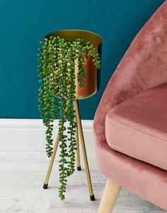 Металлический цветочный горшок на ножках ASOS SUPPLY - Золотой