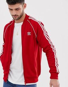 Красная спортивная куртка adidas Originals Superstar - Красный