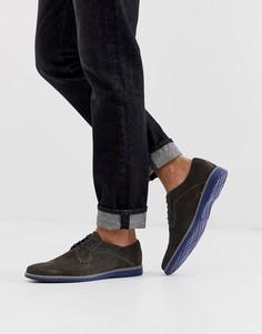 Серые замшевые туфли на шнуровке Silver Street - Серый
