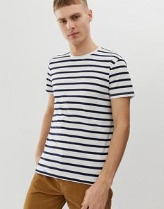 Приталенная футболка в темно-синюю полоску Esprit - Белый