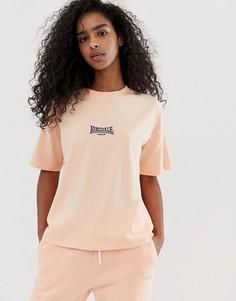 Свободная футболка Lonsdale - Розовый