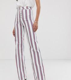 Расклешенные джинсы в полоску с акцентной молнией ASOS DESIGN Tall - Мульти