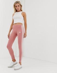 Леггинсы с 3 полосками adidas Originals - Розовый