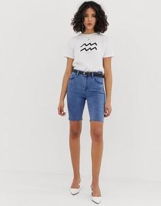 Удлиненные джинсовые шорты FAE - Синий