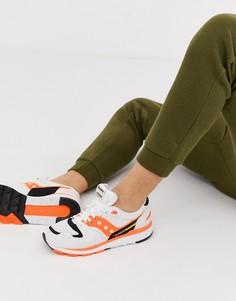 Бело-оранжевые кроссовки Saucony Azura OG - Белый