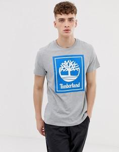 Серая футболка с принтом и круглым вырезом Timberland - Серый