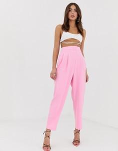 Зауженные розовые брюки в стиле 80-х ASOS DESIGN - Розовый