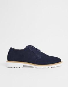 Темно-синие замшевые туфли на шнуровке Ben Sherman - Темно-синий