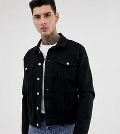 Черная джинсовая оversize-куртка Reclaimed Vintage - Черный