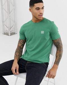Светло-зеленая футболка с логотипом BOSS - Зеленый