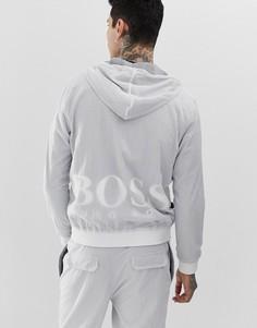 Серая спортивная куртка с логотипом BOSS Zinc SUIT2 - Серый