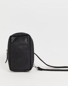 Кожаная сумка ASOS DESIGN - Черный