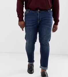 Темные джинсы скинни ASOS DESIGN Plus - Синий
