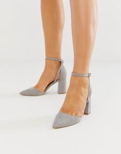 Серые туфли на блочном каблуке RAID Katy - Серый